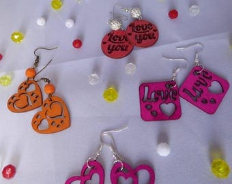 """the Earrings from the collection """"I love You"""" creat ' Y. O.N"""