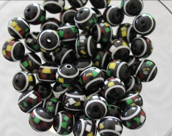 CLEARANCE! 140 x resin round beads