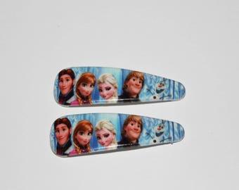 2 x frozen hair clip - size: 5.4 * 1.75