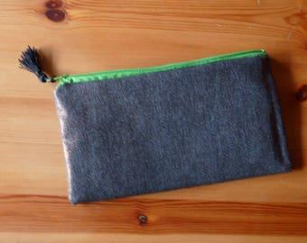 Waxed fabric bag