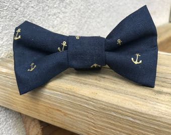 Sailor Blue with gold anchors
