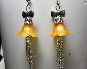 Earrings Orange Tulip