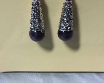 Amethyst earrings Celtic style