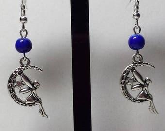 Fairy on Moon earrings