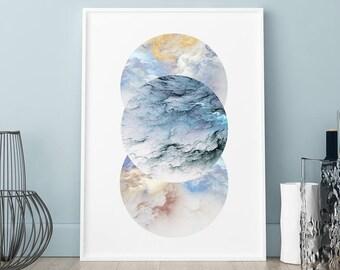 Storm cloud circles poster, Storm cloud circles print, Wall art, Art Print, Scandinavian print, Scandinavian poster