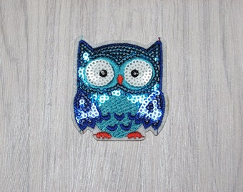 Owl sequin patch
