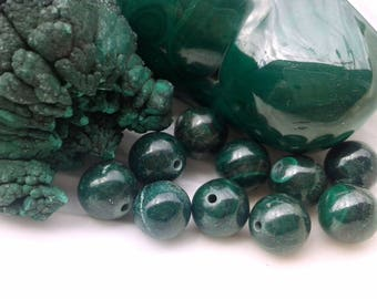 AAA Malachite 8mm Round Beads