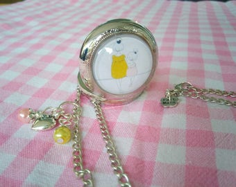 Pocket Watch pendant mother and daughter