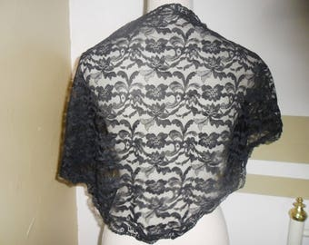 Black Lace, romantic scarf or shawl