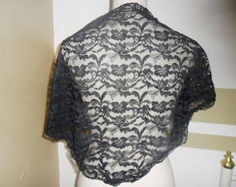Black Lace, romantic scarf or shawl