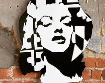 Marylin Monroe R.A.R. Inspired Can Art Sign