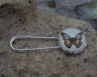 """Collection""""fluttering"""" 1 safety pin brooch"""