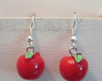 "Earrings ""collection fruity"" Apple"
