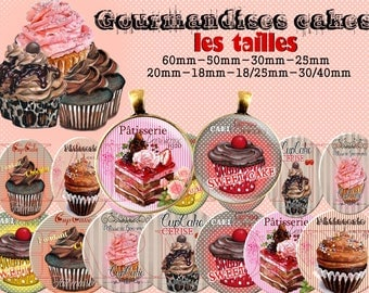 images digital cakes gourmet 60mm - 50 mm - 30/40 mm-18 / 25mm - 18 mm - 20 mm - 25 mm - 30 mm