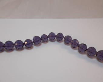 1 set of 6 10 mm 96 faceted Crystal beads