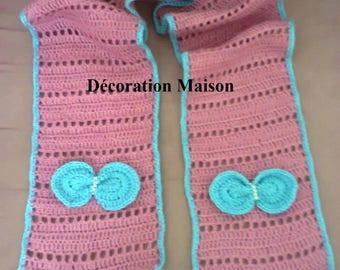 Pink butterfly scarf crochet