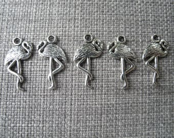 Antique silver Flamingo charm