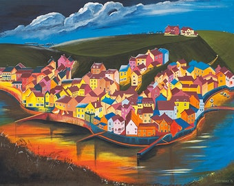 Moonlight over Staithes - Prints