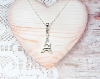 Paris Eiffel Tower charm pendant chain necklace