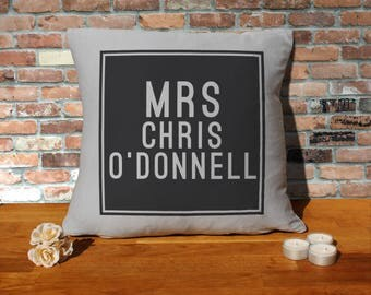 Chris O'Donnell Pillow Cushion - 16x16in - Grey