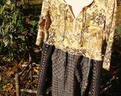 Dancing ladies upcycled OOAK Upcycled Clothing, Reclaimed, Fall Fashion, Boho, Bohemian, Tunic, Gypsy