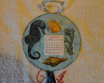 CD repaints monthly calendar hanging 2017 (No. 7)