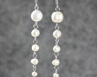 Pearl and Silver earrings 925