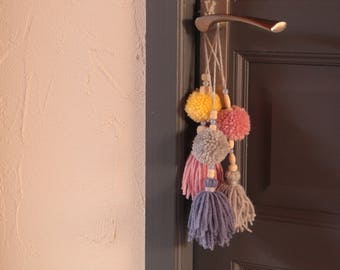 yarn tassels for window or door decoration