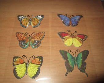 sheet of embossed Butterfly stickers