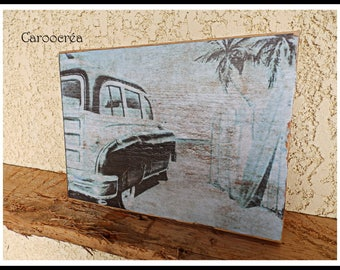 "Decorative ""Cuba vintage"" wooden sign"