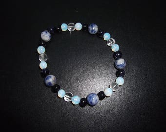 Mixed semi precious stone bracelet