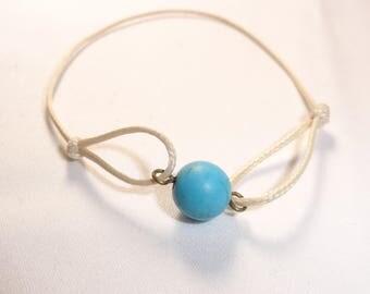 Bracelet turquoise chakra soloist magnetized