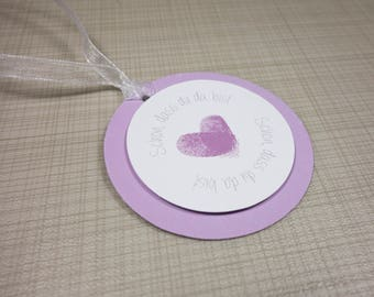 "Gift tags ""Your fingerprints"""