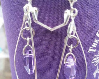 Lavender Swarovski Crystal Earrings SB31