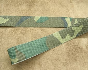 MILITARY camouflage-2 cm - no elastic - Green Ribbon