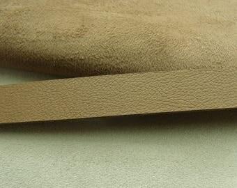 Ribbon Leatherette-1, 5 cm - 2 sides - reversible Beige