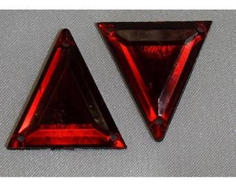 rhinestone acrylic-26 mm - Red