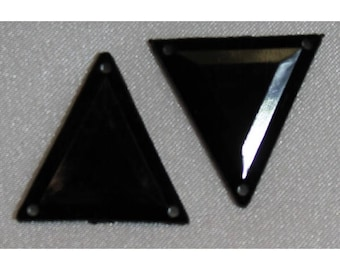 rhinestone acrylic triangle - 26 mm - black