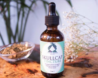 Skullcap Herbal Tincture 2oz - Premium Extract - Mental Clarity - Nervous Support - Hormone Balance - Cardiovascular