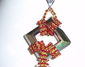 square swarovski crystal pendant