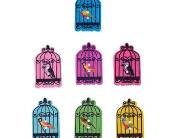 10 buttons 2 holes, bird cage, 3 m