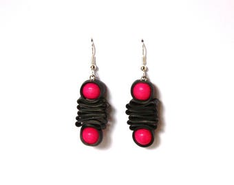 Inner tube recycled Rose earrings