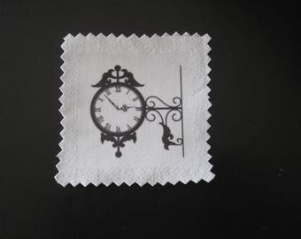 Image transfer, to sew, old clock