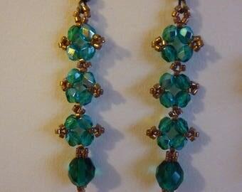 weaving beads raw earrings