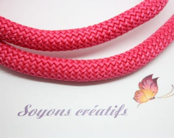 50cm round braided rope 10mm pink Fuscia - creating jewelry-