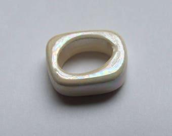 PASSING ceramic RECTANGLE ECRU 18x15MM