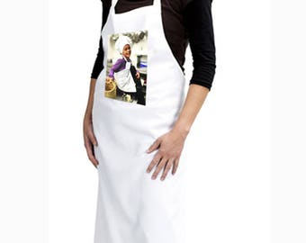 Adult apron personalized with your photo size L