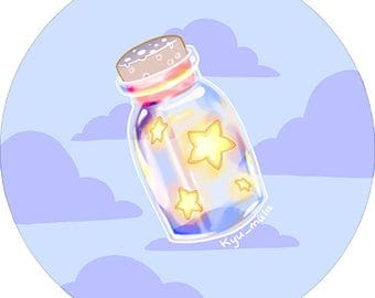 Stars in a Bottle Button