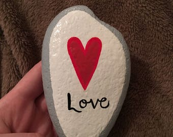 Painted Love Rock