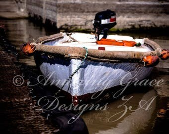 Printable Wall Art -Boat Rocking on the Water, South Africa, Vaal Dam, Original Photography print